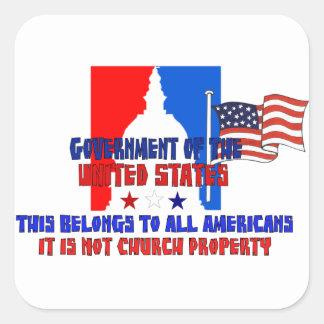 Not Church Property Square Sticker
