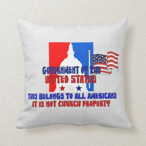 Not Church Property Throw Pillows