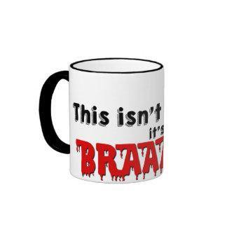 Not Coffee - Brains! Ringer Coffee Mug