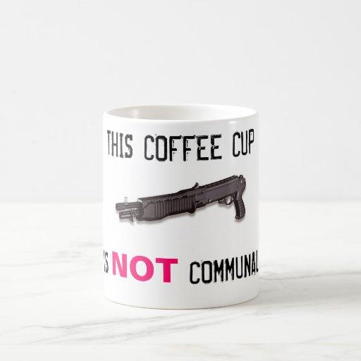 NOT COMMUNAL CLASSIC WHITE COFFEE MUG