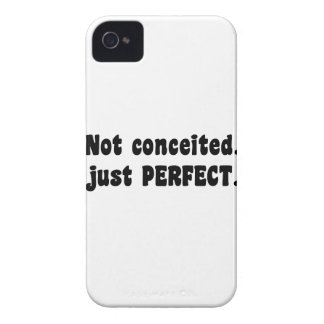 Not Conceited, Just Perfect iPhone 4 Cover