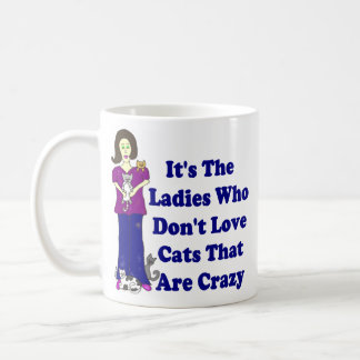 (Not Crazy) Cat Lady Classic White Coffee Mug