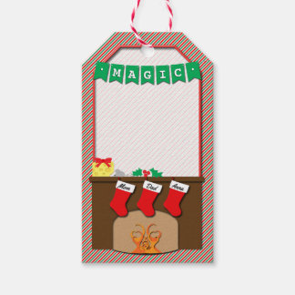 Not Creature Was Stirring Christmas • 3 Stockings Gift Tags