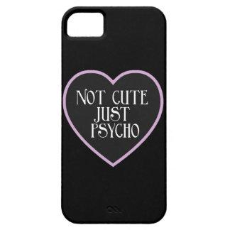 Not cute just Psycho purple+black mask b iPhone SE/5/5s Case