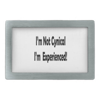 not cynical I'm experienced in black Belt Buckle