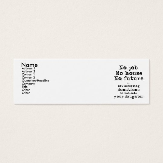 Not Date Your Daughter Donations Profile Card