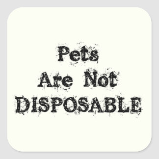 Not Disposable Animal Rescue Stickers