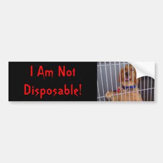 Not Disposable Bumper Sticker