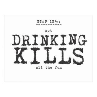 (not) drinking kills. postcard
