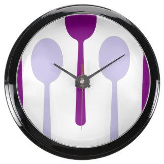 Not enough Spoons Aqua Clocks