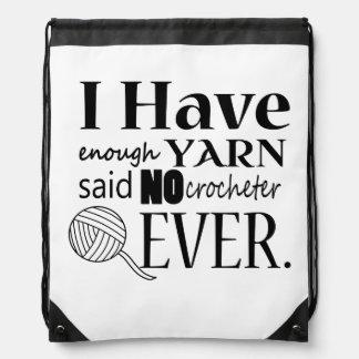 Not Enough Yarn Crochet/Crafts Drawstring Bag
