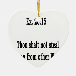 Not Even, 3 Ceramic Ornament