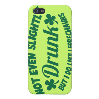 NOT EVEN SLIGHTLY DRUNK but I do like leprechauns iPhone SE/5/5s Cover