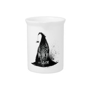 Not Every Witch Lives in Salem Halloween Pitcher