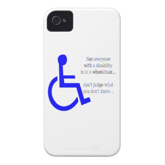 Not Everyone with a Disability is in a Wheelchair iPhone 4 Cases