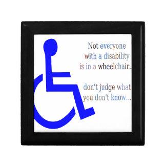Not Everyone with a Disability is in a Wheelchair Gift Box