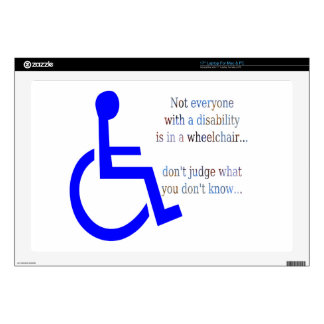 Not Everyone with a Disability is in a Wheelchair Laptop Decals