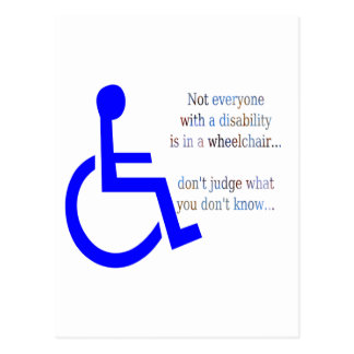 Not Everyone with a Disability is in a Wheelchair Postcard
