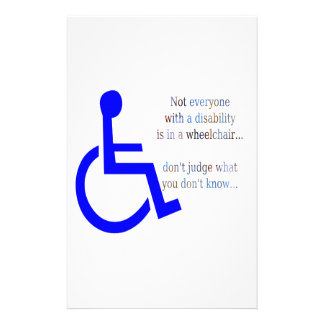 Not Everyone with a Disability is in a Wheelchair Stationery