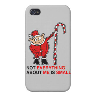 NOT EVERYTHING ABOUT ME IS SMALL - png iPhone 4 Cover