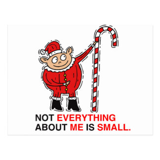 NOT EVERYTHING ABOUT ME IS SMALL - png Postcards