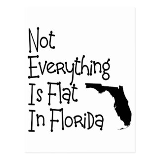 Not Everything In Florida Is Flat Postcard