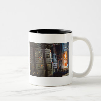 """Not Exactly Front Row Center"" New York Watercolor Two-Tone Coffee Mug"