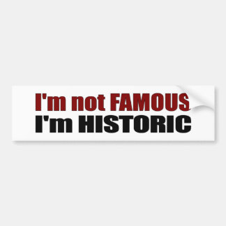 Not Famous I'M Historic Bumper Sticker