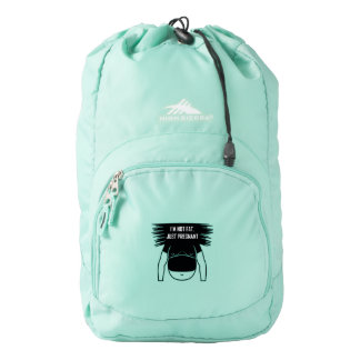 Not fat, just pregnant backpack