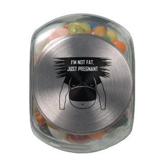 Not fat, just pregnant glass jar
