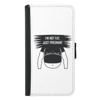 Not fat, just pregnant samsung galaxy s5 wallet case
