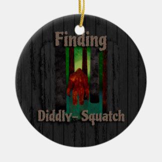 not finding bigfoot ceramic ornament