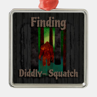 not finding bigfoot metal ornament
