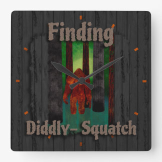 not finding bigfoot square wall clock