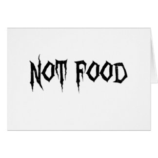 Not Food Card