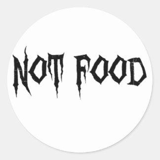 Not Food Classic Round Sticker