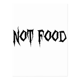 Not Food Postcard