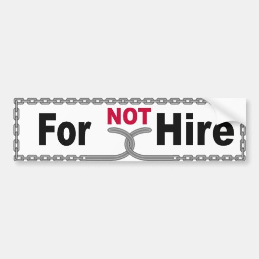 NOT For Hire Bumper Sticker