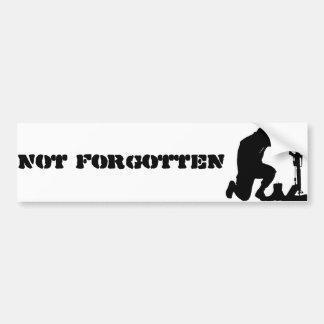 Not Forgotten Car Bumper Sticker