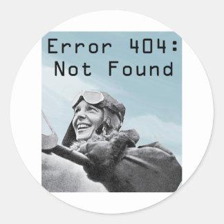 Not Found Classic Round Sticker