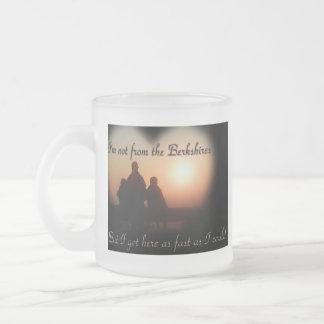 Not from the Berkshires Frosted Glass Coffee Mug