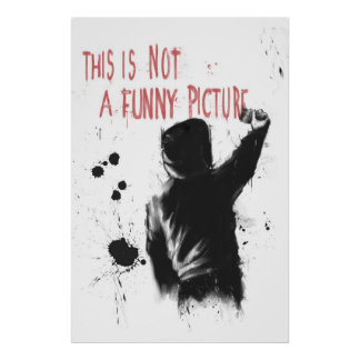 Not funny poster