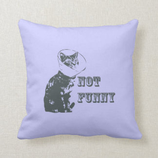 Not Funny Throw Pillow