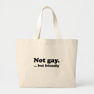 Not gay, but friendly .png canvas bag