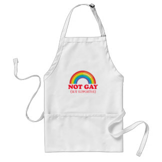 NOT GAY, but supportive Adult Apron