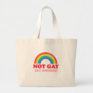 NOT GAY, but supportive Canvas Bags