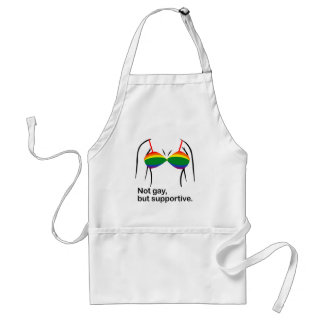 NOT GAY BUT SUPPORTIVE BRA -.png Adult Apron