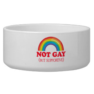 NOT GAY, but supportive Pet Food Bowl