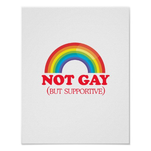 NOT GAY, but supportive Poster