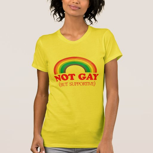 NOT GAY, but supportive Shirts